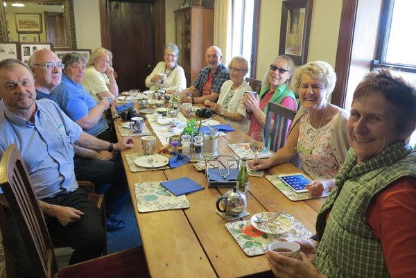 English Travelling Group stop for Devonshire Tea
